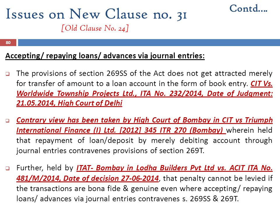Issues on New Clause no. 31 [Old Clause No. 24]